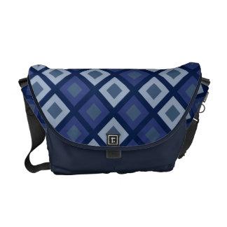 Blue Diamonds Courier Bags
