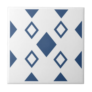 blue diamonds geometrics in a traditional style tile