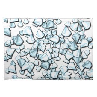 Blue diamonds placemat