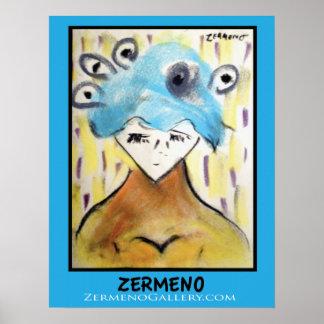 """""""Blue Diana"""" by Zermeno Print"""