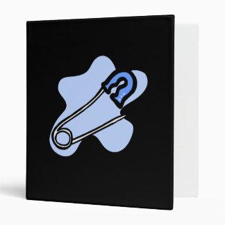 Blue Diaper Pin Vinyl Binders