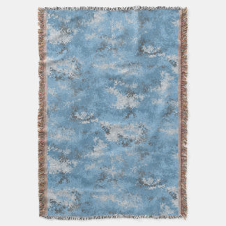 Blue Digi Camo Throw Blanket