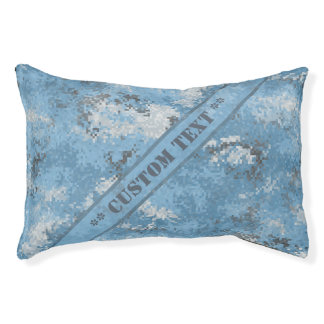 Blue Digi Camo w/ Custom Text Pet Bed