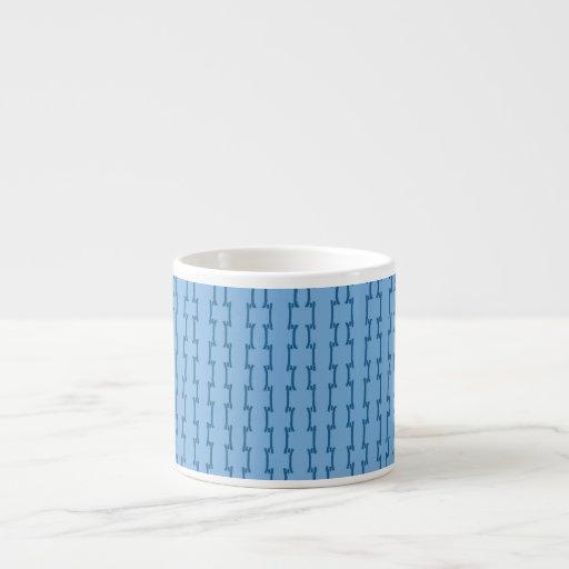 Blue Digital Design Espresso Mug