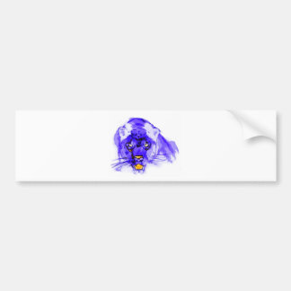 Blue Digital Pop Art Jaguar Bumper Sticker