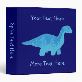 Blue Dinosaur Binder