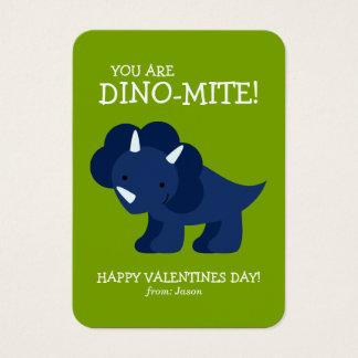 Blue Dinosaur Kids School Valentines Business Card