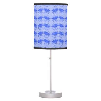 Blue Dinosaur Print Lamp Pattern Personalized