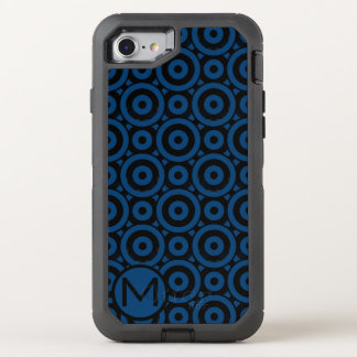 Blue Disc Monogram OtterBox Defender iPhone 7 Case