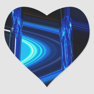 Blue Distraction Heart Sticker
