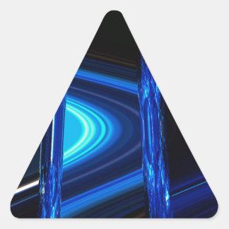 Blue Distraction Triangle Sticker