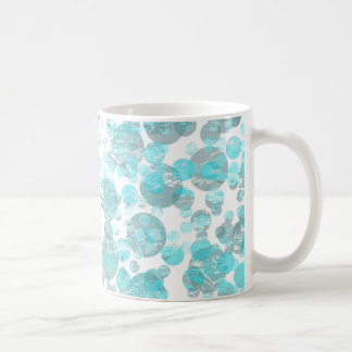 Blue distressed Spots Pattern Coffee Mug