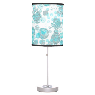 Blue distressed Spots Pattern Table Lamp