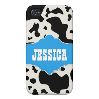 Blue Divine Bovine Cover For iPhone 4