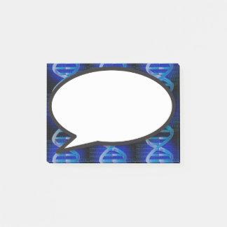 Blue DNA speech bubble Post-it Notes