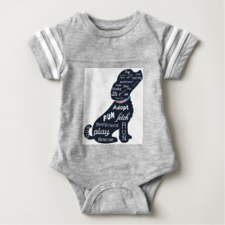 Blue Dog Baby Bodysuit