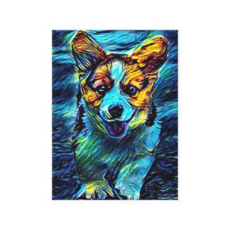 Blue dog canvas print