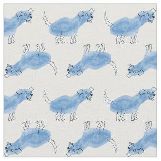 Blue Dog Fabric
