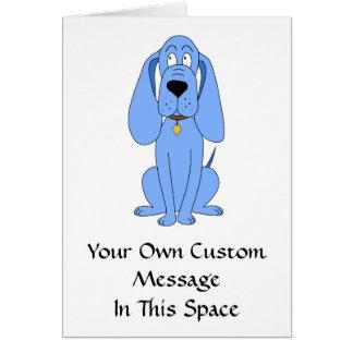 Blue Dog. Hound. Card