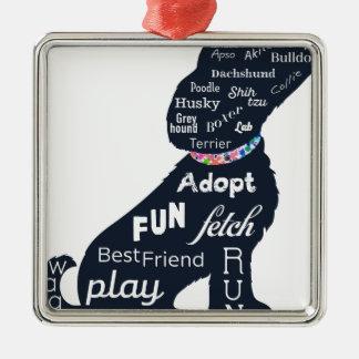 Blue Dog Metal Ornament