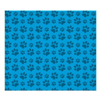 Blue dog paw print