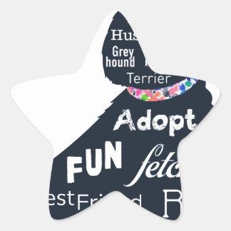 Blue Dog Star Sticker
