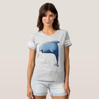 Blue dolphin 青いイルカ delfín azul golfinho azul t-shirt