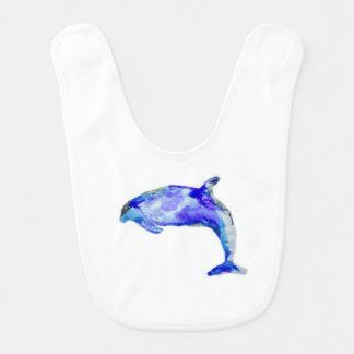 Blue Dolphin Baby Bib