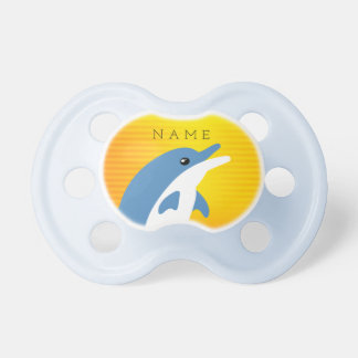 Blue Dolphin Dancing in the Tropical Sun Pacifier