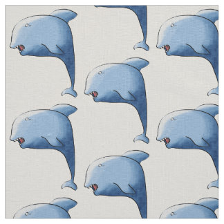 Blue dolphin fabric