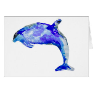 Blue Dolphin Greeting Card