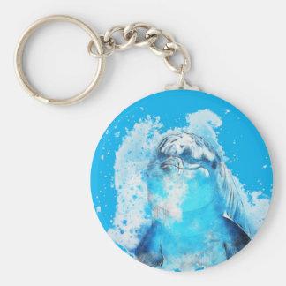 Blue dolphin keychain