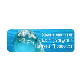 Blue Dolphin Return Address Label