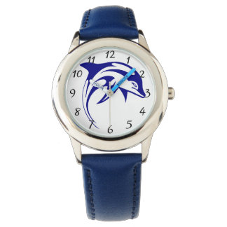 Blue dolphin wrist watches