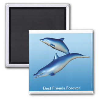 Blue Dolphins Best Friends Forever Magnet