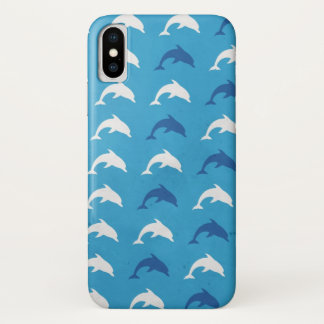 Blue dolphins iPhone x case