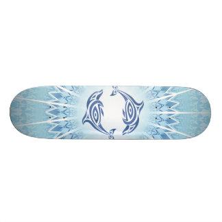 Blue Dolphins Mandala Skate Decks