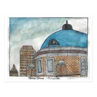 Blue Dome postcard - Pen Connor 2014 (watercolor)