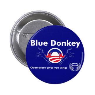 Blue Donkey 2 Inch Round Button