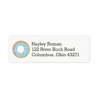 Blue Donut Baby Sprinkle Address Return Address Label