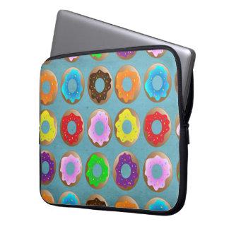 Blue Donut Lot Laptop Sleeve