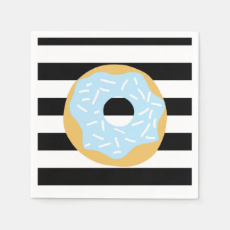 Blue Donut Party Napkins Disposable Napkins