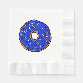 Blue Donut Rainbow Colorful Sprinkles Art Yummy Napkin