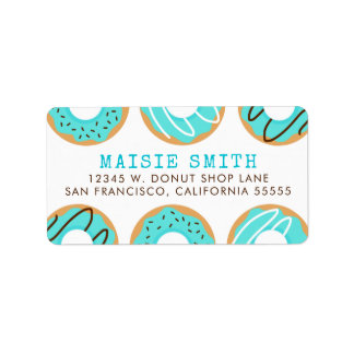Blue Donuts Label