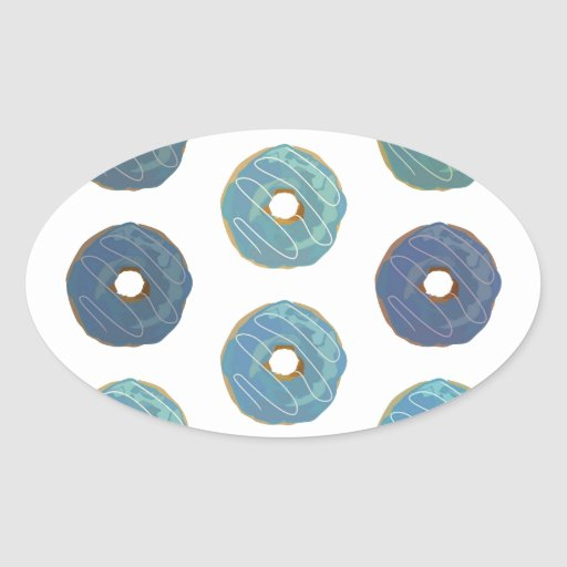 Blue Donuts - Pattern 2 Stickers