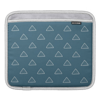 Blue Doodle Triangles Pattern Ipad Sleeve