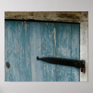 Blue door in Charleston Poster