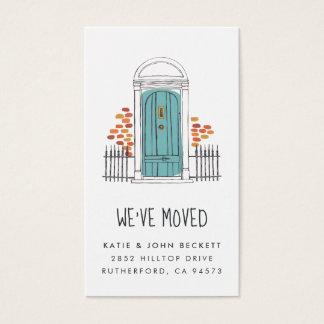 Blue Door Moving Announcement Insert Cards