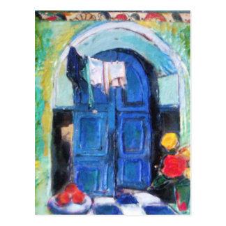 Blue Door - Postcard