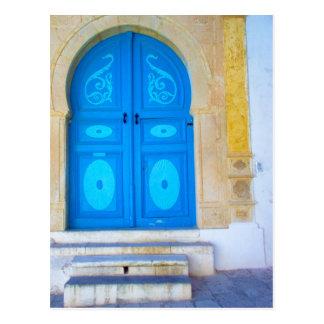 Blue door postcard